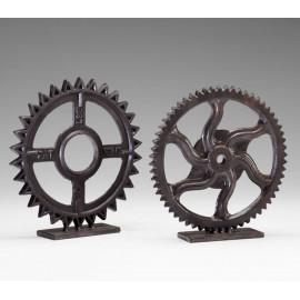 Set of Iron Gear Sculptures