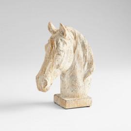 Cement Horse Head Sculpture