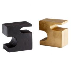 Puzzle Pieces Bronze & Brass Bookends