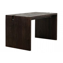 Reclaimed Pine Driftwood Look Dark Finish Desk Table