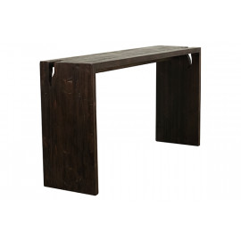 Reclaimed Pine Driftwood Look Dark Finish Console Table