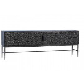 Extra Long Wood & Iron Speckled Front Sideboard