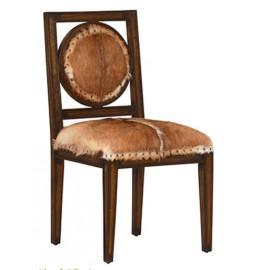Hide & Dark Wood Dining Chairs 2