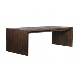 Reclaimed Pine Driftwood Look Dark Finish EXTRA Long Dining Table