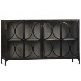 Circle Design Hand Crafted Steel Sideboard