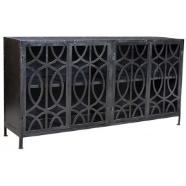 Circle Overlapping Design Hand Crafted Steel Sideboard