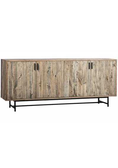 Natural Heritage Oak Wood & Metal Sideboard