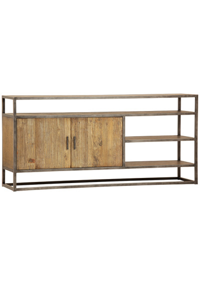 Eclectic Reclaimed Wood & Metal Sideboard