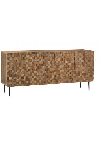 Recycled Elmwood Multi Square Sideboard Buffet