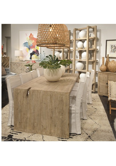 Reclaimed Pine Driftwood Look EXTRA Long Dining Table