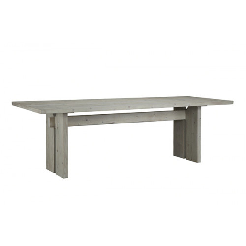 White Grey Knotty Pine Dining Table