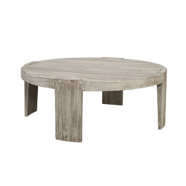 Round Solid White Pine Scandinavian Coffee Table