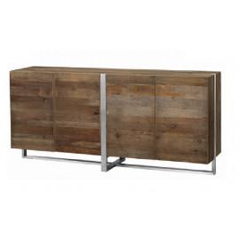 Eclectic Reclaimed Wood & Steel Sideboard