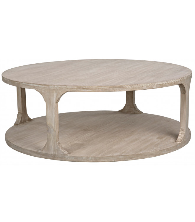 Big Round Reclaimed Wood Coffee Table, Round Reclaimed Wood Coffee Table