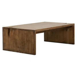 Reclaimed Pine Driftwood Look Medium Finish Coffee Table