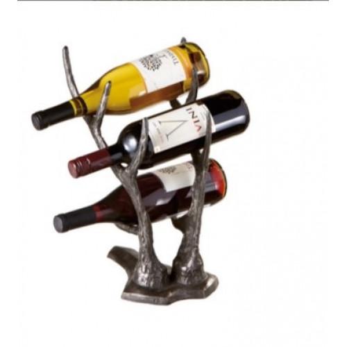Cast Iron Deer Antler Wine Holder