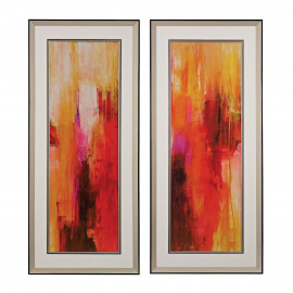 Giclee Print on Paper Colorful Streams 2 Piece
