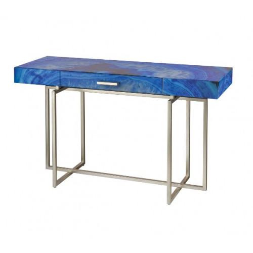 Blue Glass Petite Writing Desk