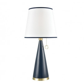 Blue Ceramic Cone Mid Century Style Table Lamp