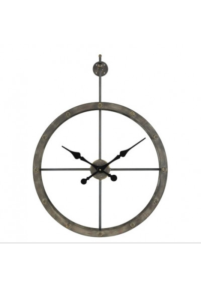 Weathered Iron Industrial Backless Wall Clock