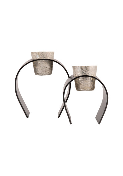 ARCH Metal Tea Light Candle Holders Set of 2