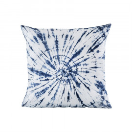 Blue & White Tie Dye Design Accent Pillow