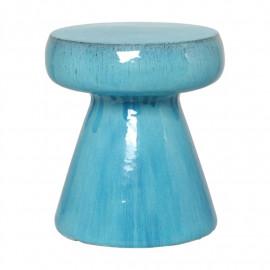 Blue Turquoise Aqua Mushroom Shape Ceramic Garden Stool Table