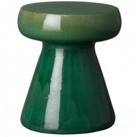 Moss Green Mushroom Shape Ceramic Garden Stool Table