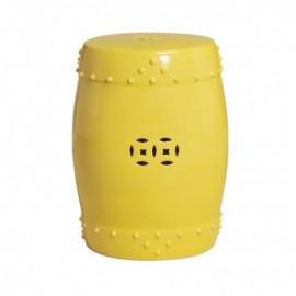 Yellow Ceramic Round Original Garden Stool