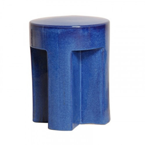 Cobalt Blue Ceramic Garden Stool Table