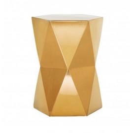 Gold Ceramic Geometric Design Garden Stool Accent Table