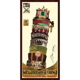 Hand Made Collage Art - Tower of Pisa