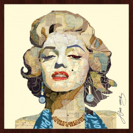 Hand Made Collage Art - Norma Jeane
