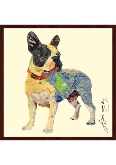 Animal Collage Art - Boston Terrier