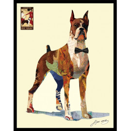 Animal Collage Art -  The Formal Boxer