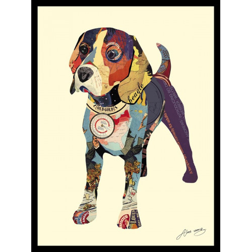 Animal Collage Art - Beagle