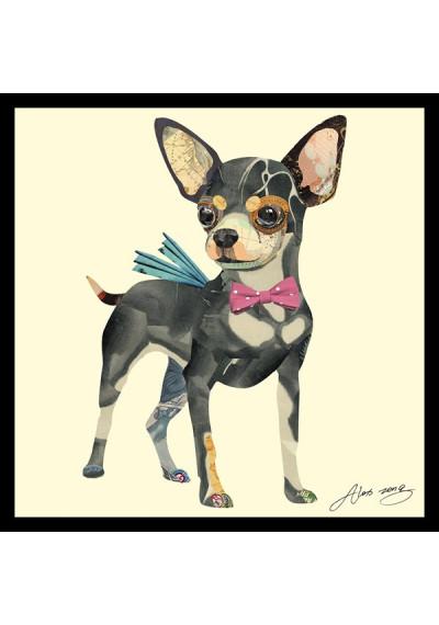 Animal Collage Art - Prancing Chihuahua