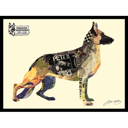 Animal Collage Art - Shepherd