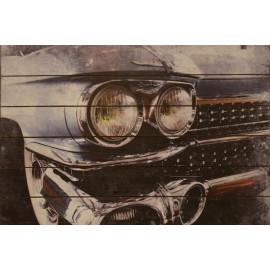 Cadillac Headlight Wood  Wall Art