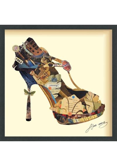 Collage Art - High Heel & High Fashion