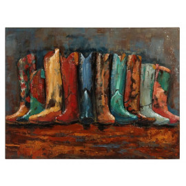Cowboy Boots Mixed Media Three Dimensional Wall Art