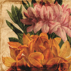French Eglomise Floral Wall Art
