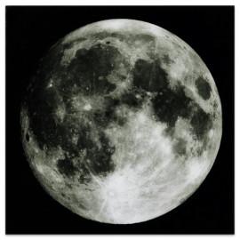 Full Moon - Frameless Free Floating Tempered Art Glass