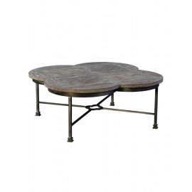 Clover Design Oak Wood Coffee Table