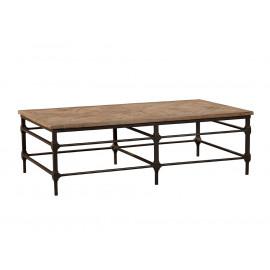 Elm Parquet Design 6 Leg Rectangular Coffee Table