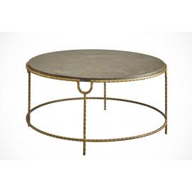 Bluestone & Crimped Golden Iron Coffee Table
