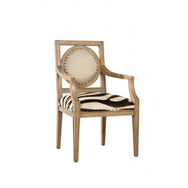 Zebra Design Cow Hide Arm Chair