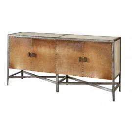 Unique Hair on Hide & Metal Sideboard Cabinet