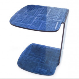 Blue Bent Glass Side Table