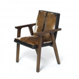Mahogany & Hide Arm Chair